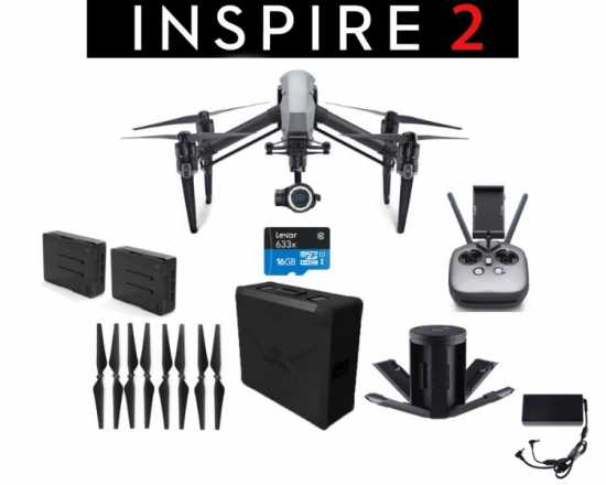 DJI Inspire 2 Quad + Zenmuse X5S Camera ≤2 Hrs Use